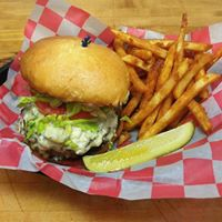 Get your burger just how you want it,in a basket with a side of your choice.
