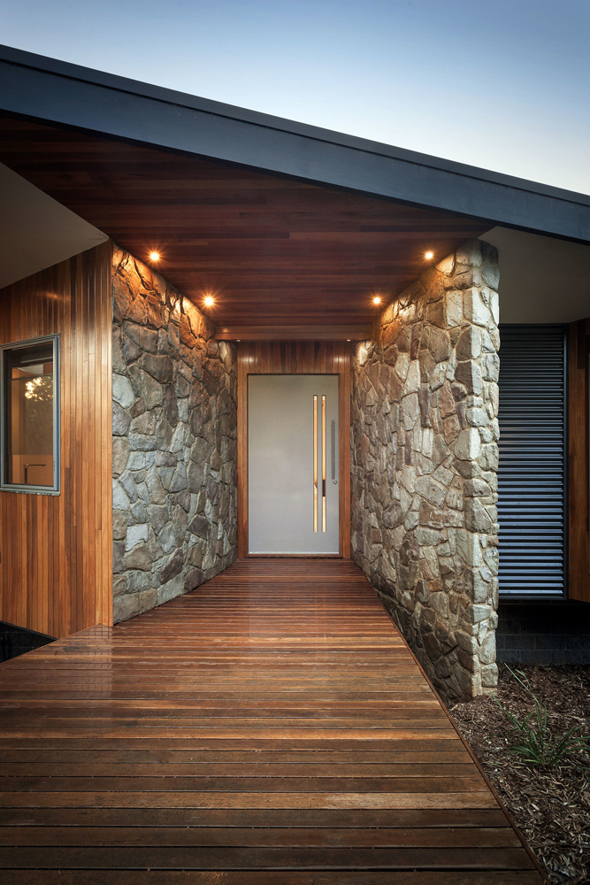 Entryway to a Warragul environmentally green family home