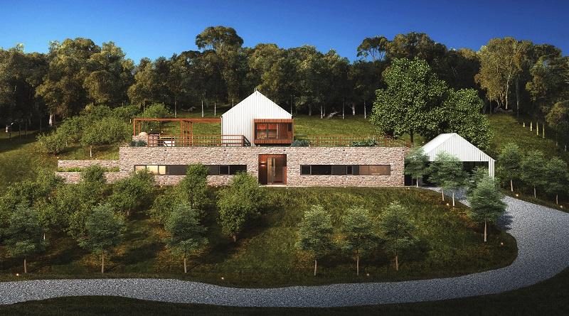 passive hause, passivhaus, farm zone, self-sufficient, complex site constraints