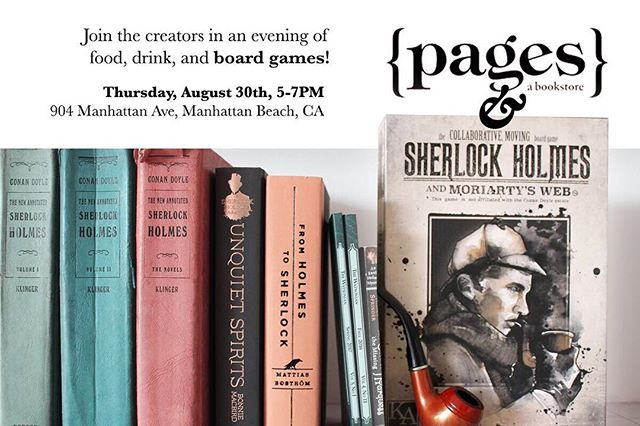 Come join the creators for a night of food, drinks, and board games! The fun will commence on August 30th at 5PM at Pages Book Store! We hope to see you all there! @pagesabookstore
