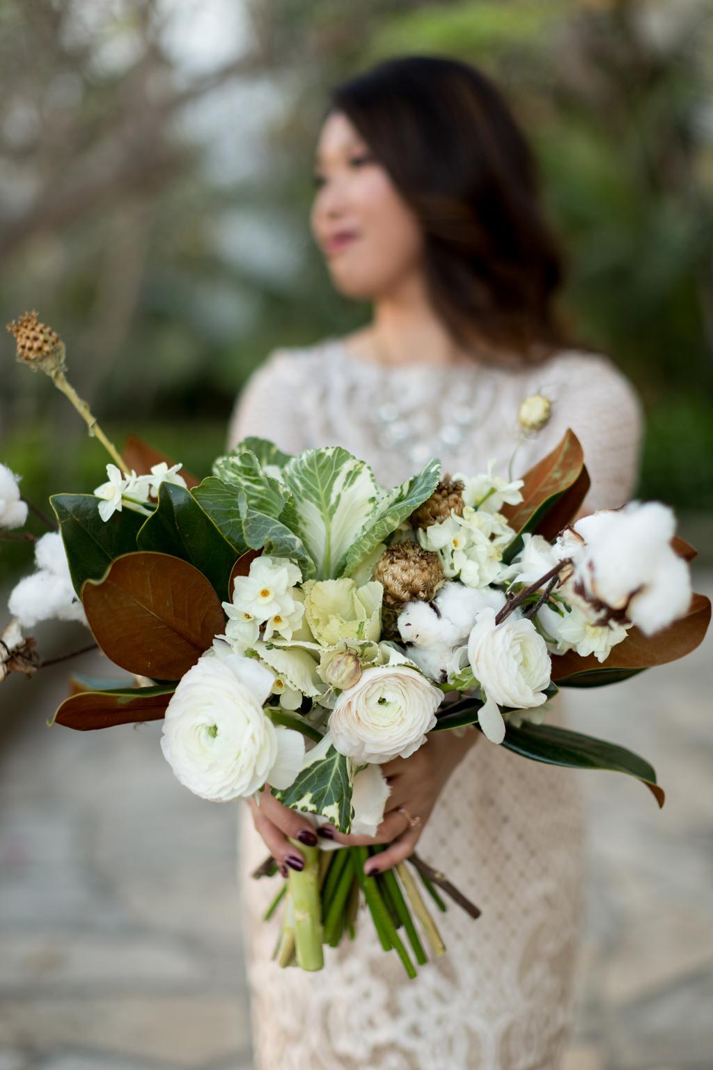 Cotton Bridal Boquet