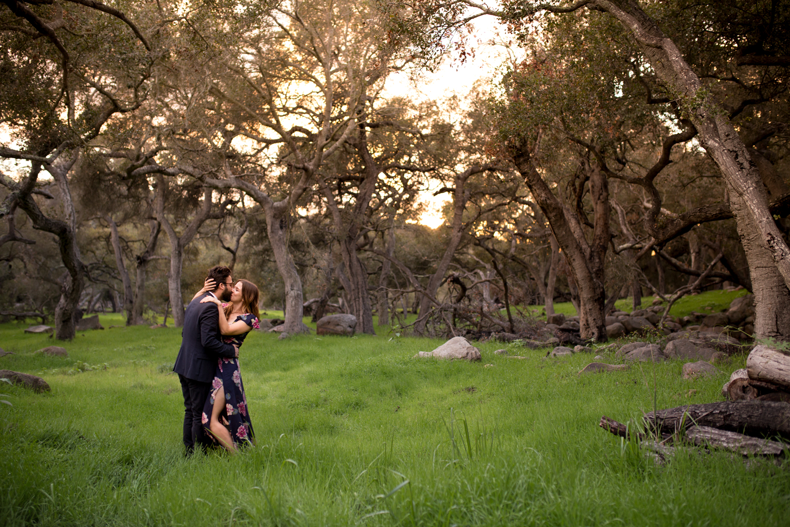 Oak Grove Engagement Photo