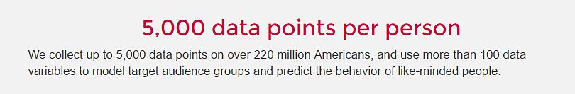 Straight from Cambridge Analytica's website