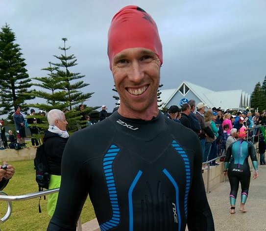 SWIM HERO: David Ogg added the Island Charity Swim to his list of impressive achievements in 2016. Photo: Facebook/Kate Ogg.
