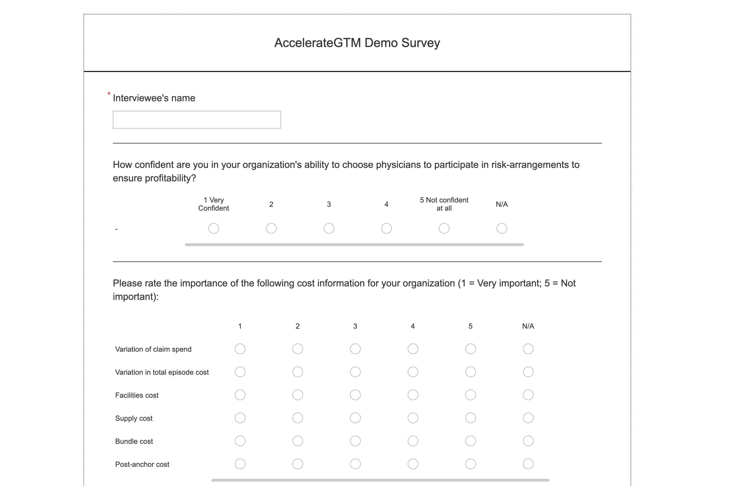 Online Survey Page