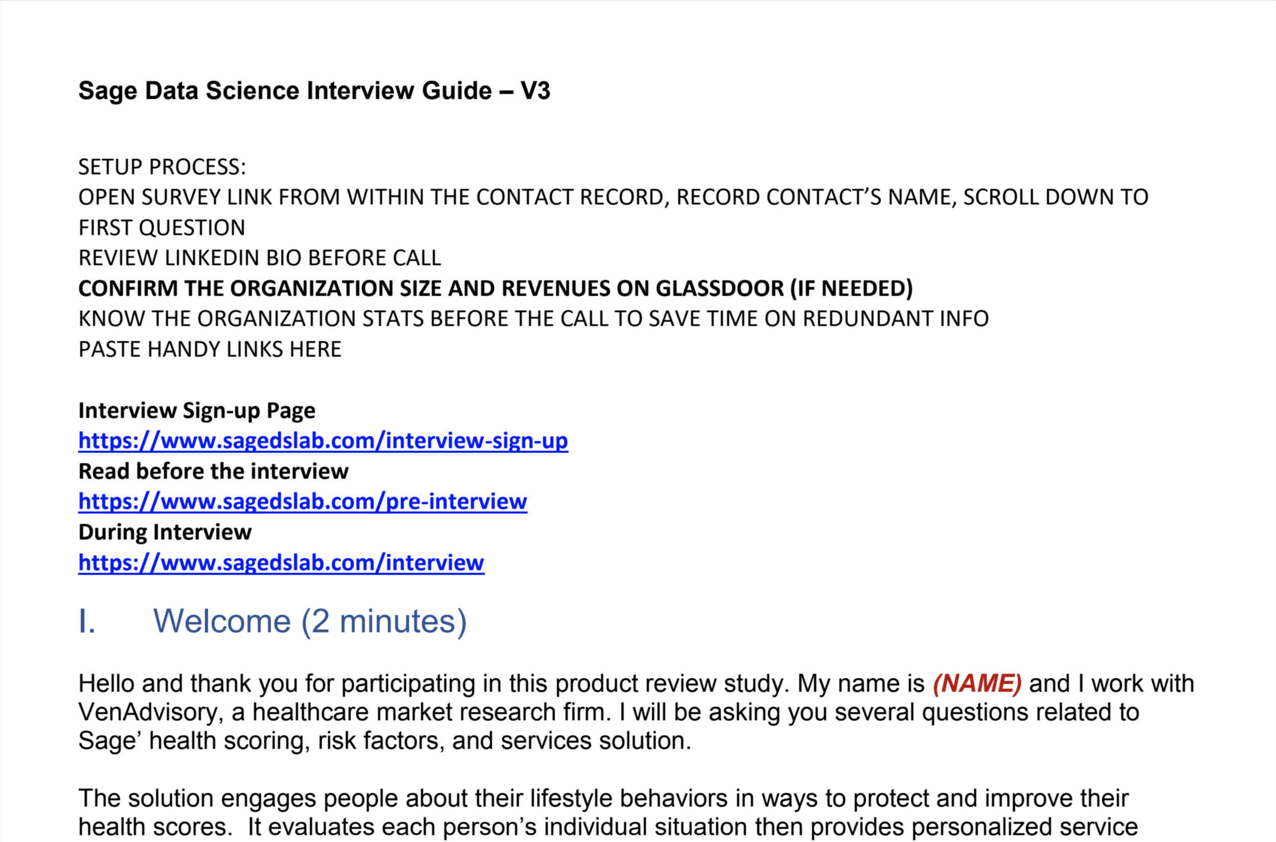 Example 1 Interview Discussion Guide
