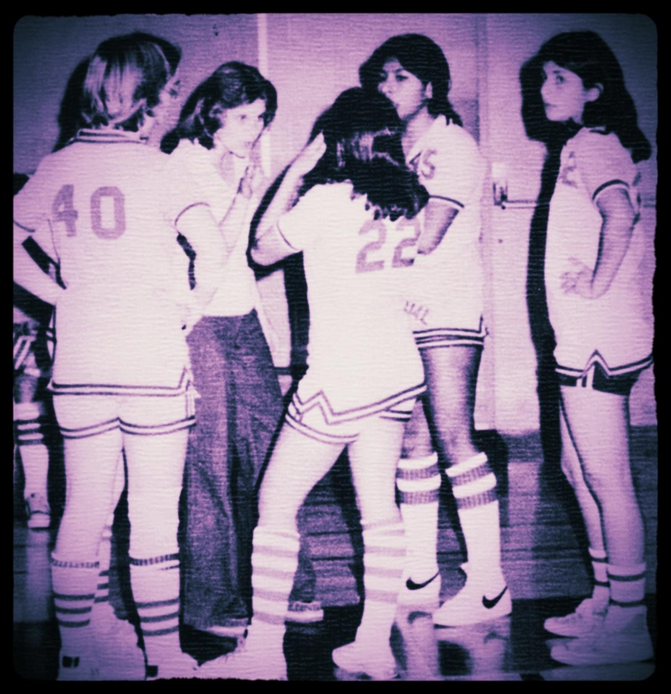 Coach Sharon Baum 1978 Girls Basketball Coach.