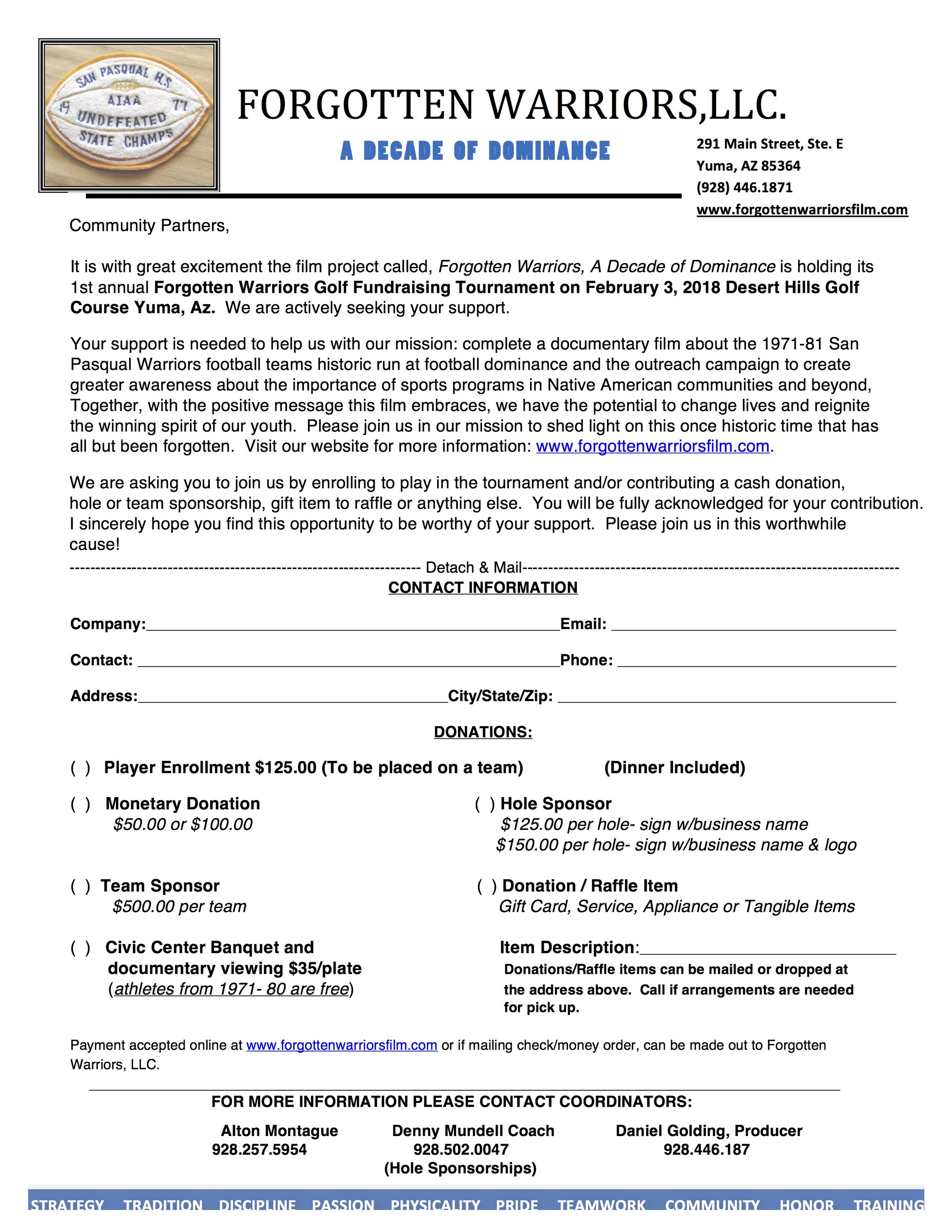 Click on form for downloadable copy