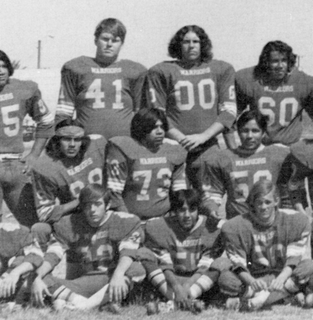 1974 San Pasqual Yearbook, Chuck Land 41, team photo