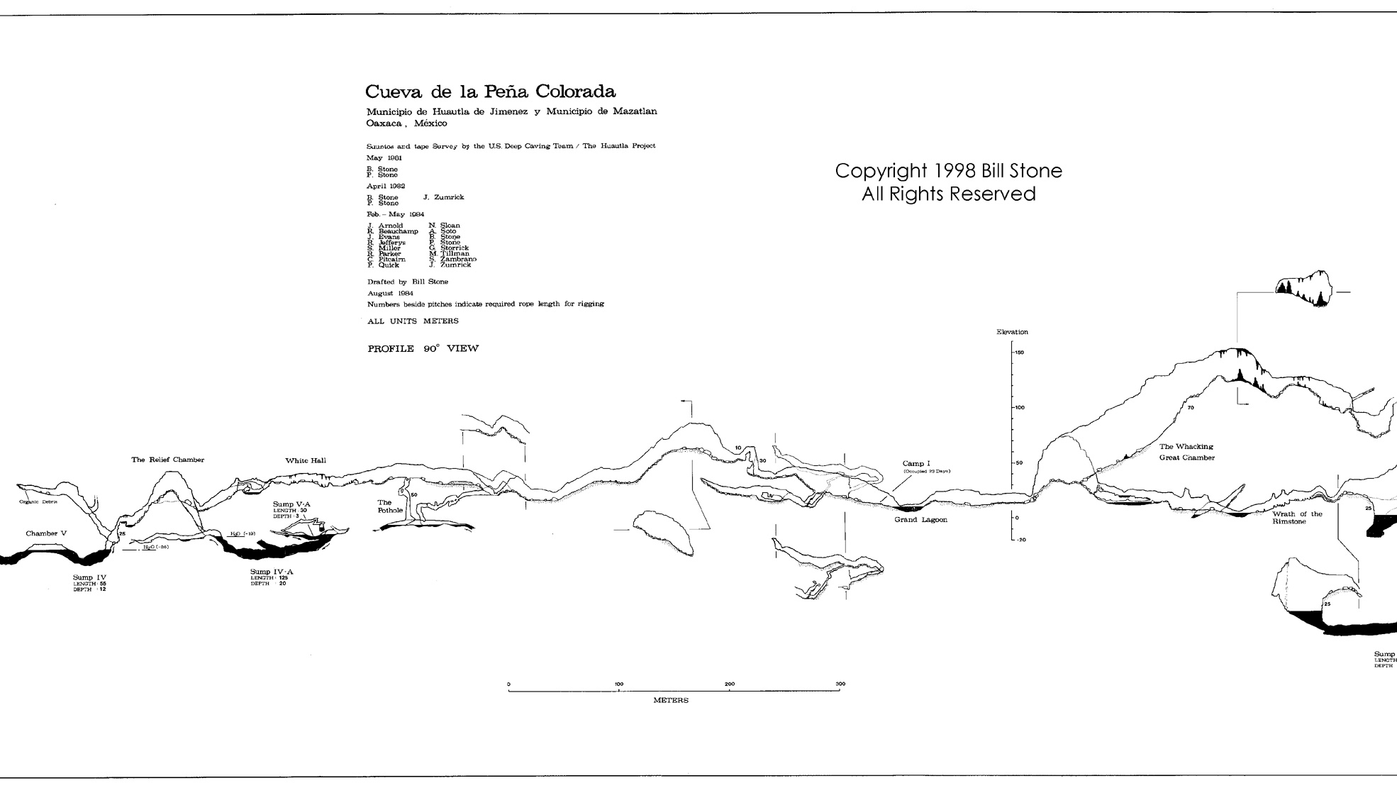 The middle part of the Peña Colorada map.