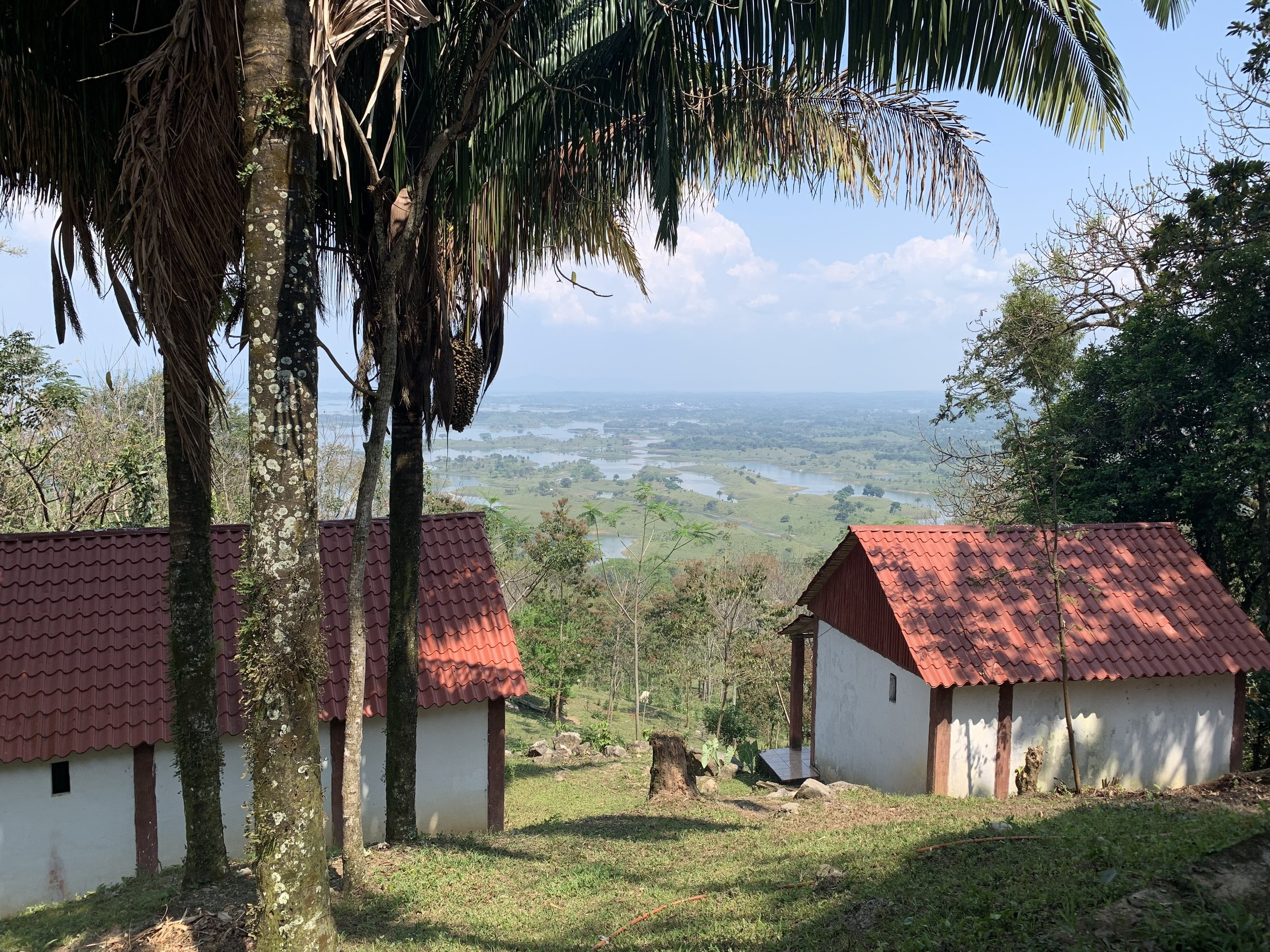 A view from the tourist accommodation over lake Miguel Alemán. Photo by Teddy Garlock.