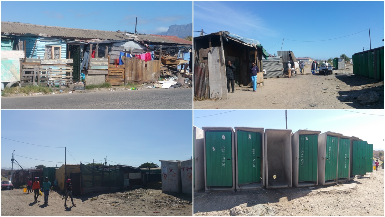 Joe's. This area is sand, shacks, stolen electricity, communal water and rudimentary sanitation that give the district its name. Click to view Joe's on Maps