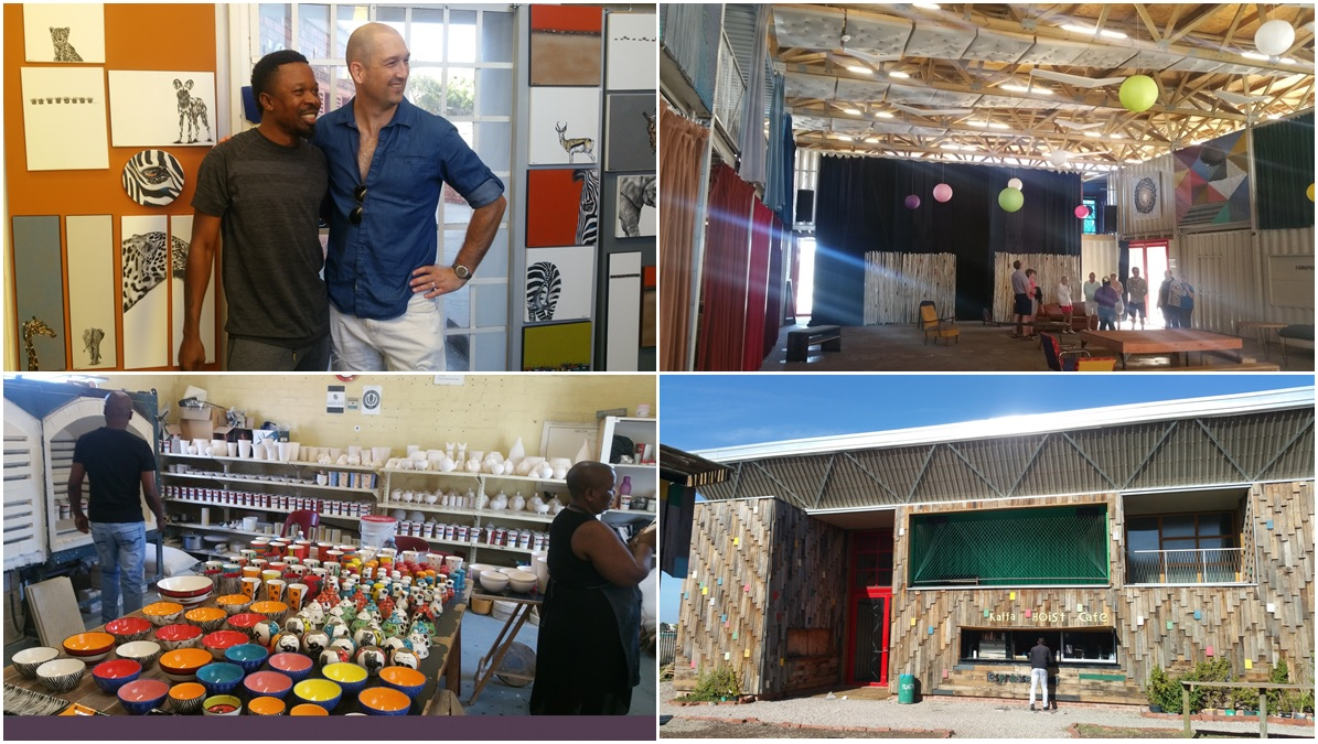 At the Langa community centre, where local art is made and sold and skills are taught to the community.