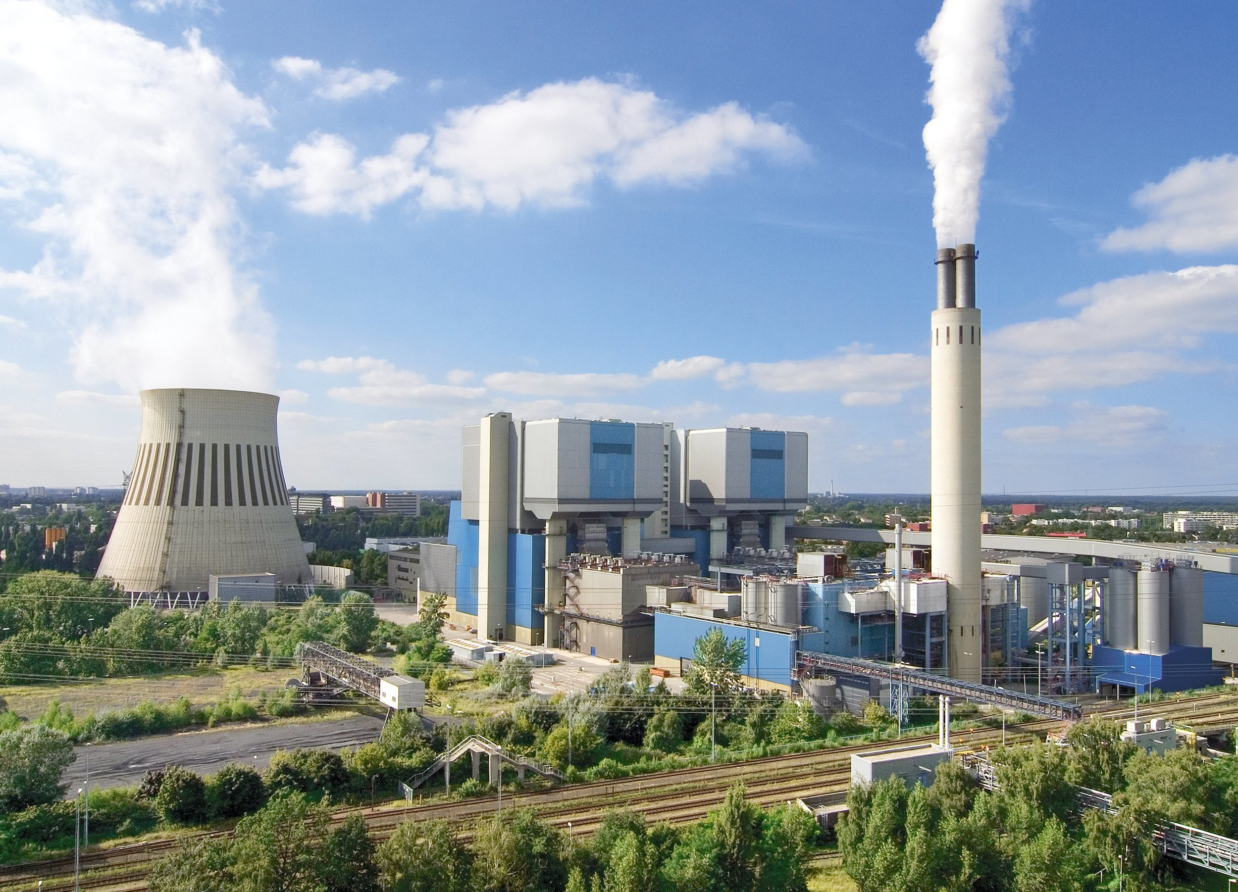 Vattenfall's Reuter West power plant burns hard coal to provide heat and power in Germany. Coal generation makes up the largest share Vattenfall's heat and power assets.