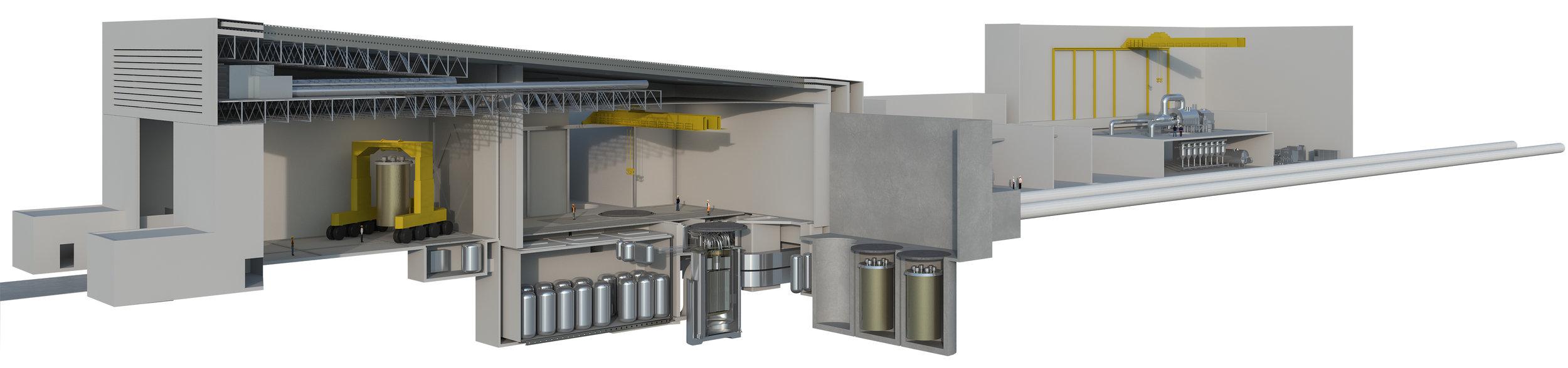 Terrestrial Energy, Integral Molten Salt Reactor. High temperature molten-salt reactor heat plant with sealed, replaceable reactor vessels.