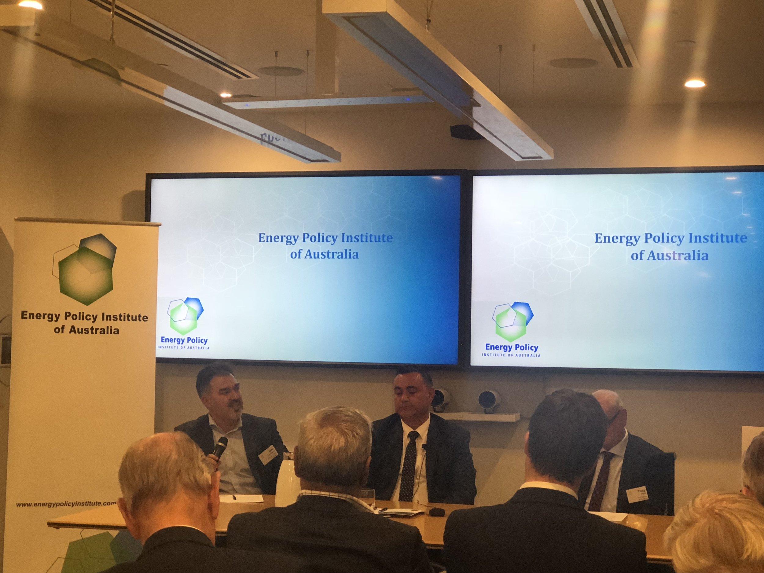 Speakers L-R Daniel Zavattiero (Minerals Council of Australia), John Barilaro MP (NSW National Party), Tony Irwin (SMR Nuclear Technologies)