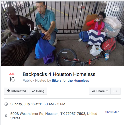 join us on the 3rd Sunday of each month to help Houston homeless.  more info