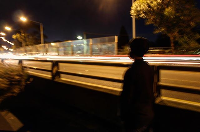 Long exposure without a tripod is hard, guys. #longexposure #lightrails #traffic #notripod #blurred #night