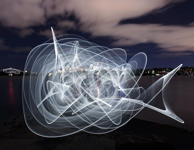 No rhyme or reason to this one, just a bit of fun with some lights and a long exposure #night #longexposure #lightpainting #squiggles