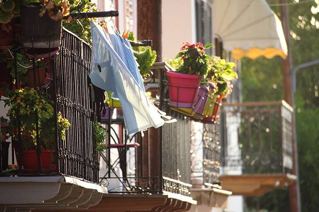🇬🇷Hanging clothes and flowers off the balcony 🌿🌷 • • • • #greece #europe #nafplio #travelgreece #traveleurope #travel #travelphotography #urbanphotography #streetphotography #afternoon #flowers #photographer #photoftheday #lostineurope