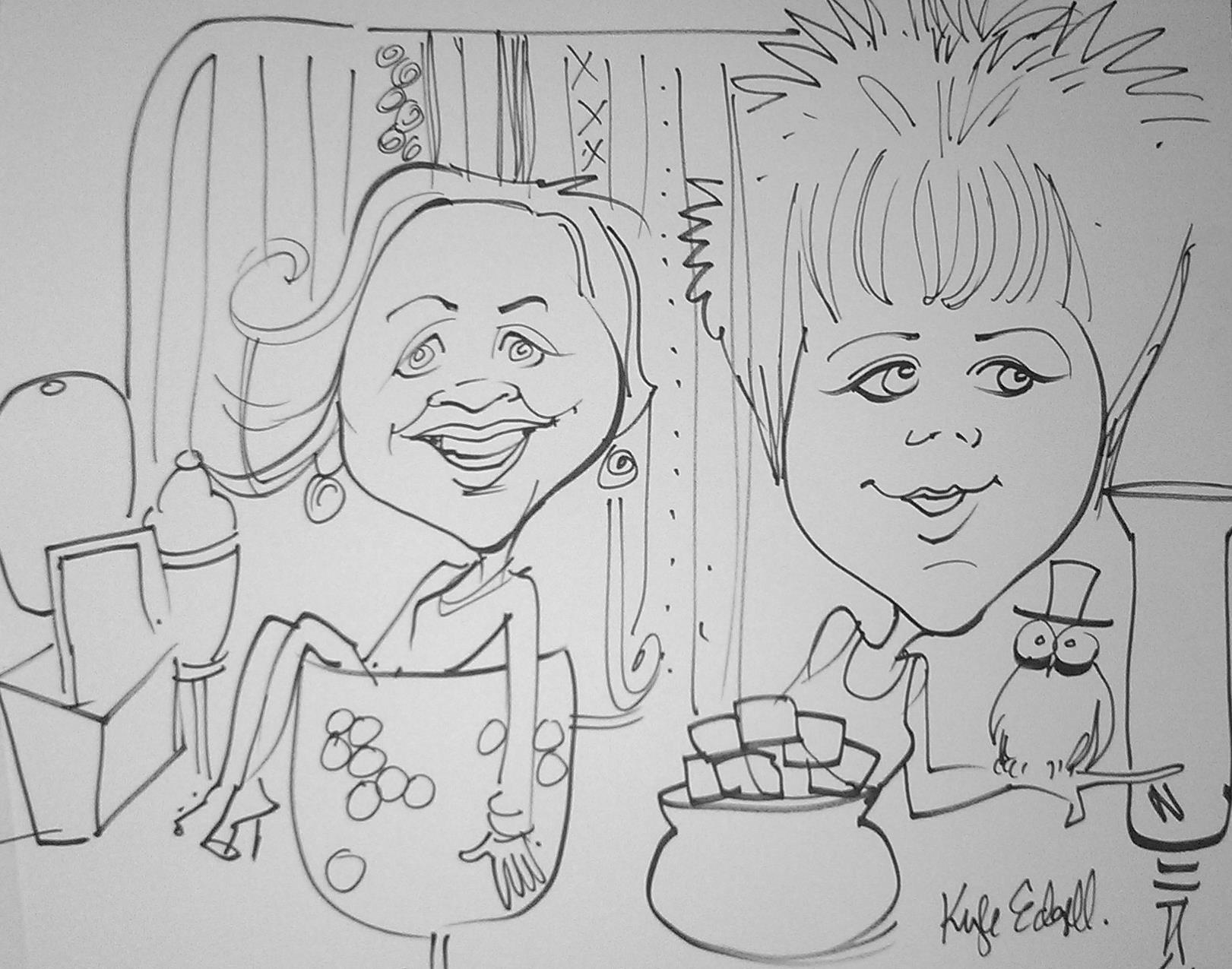 Art by:  K  yle Edgell Caricature Entertainment