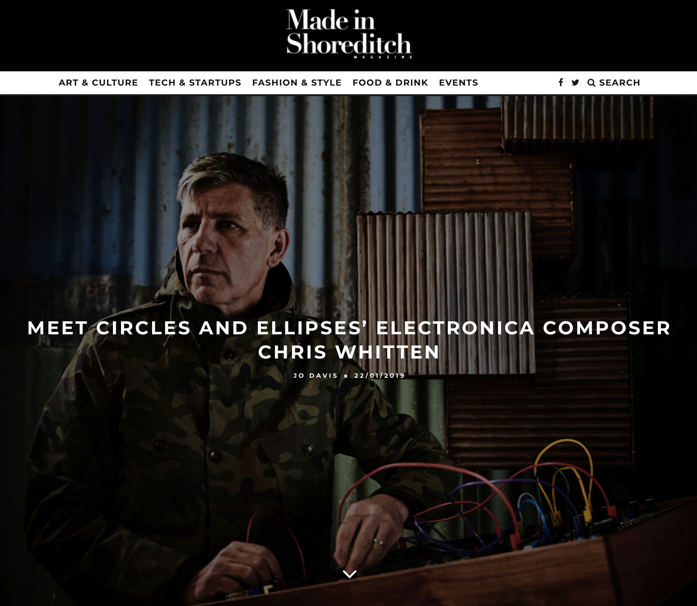 Made In Shoreditch magazine interview Circles and Ellipses electronic music production alias of Chris Whitten ahead of his remixes of Burn:Cycle the classic video game soundtrack. New music, downtempo electronica, melodic techno.