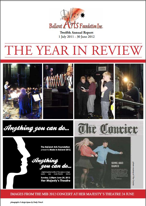 BALLARAT ARTS FOUNDATION ANNUAL REPORT 2011-2012