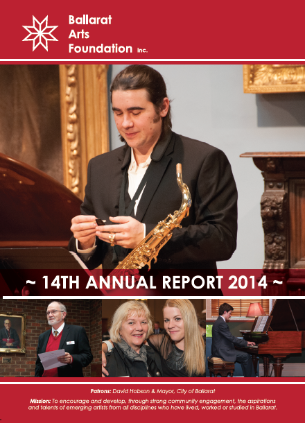 BALLARAT ARTS FOUNDATION ANNUAL REPORT 2013-2014