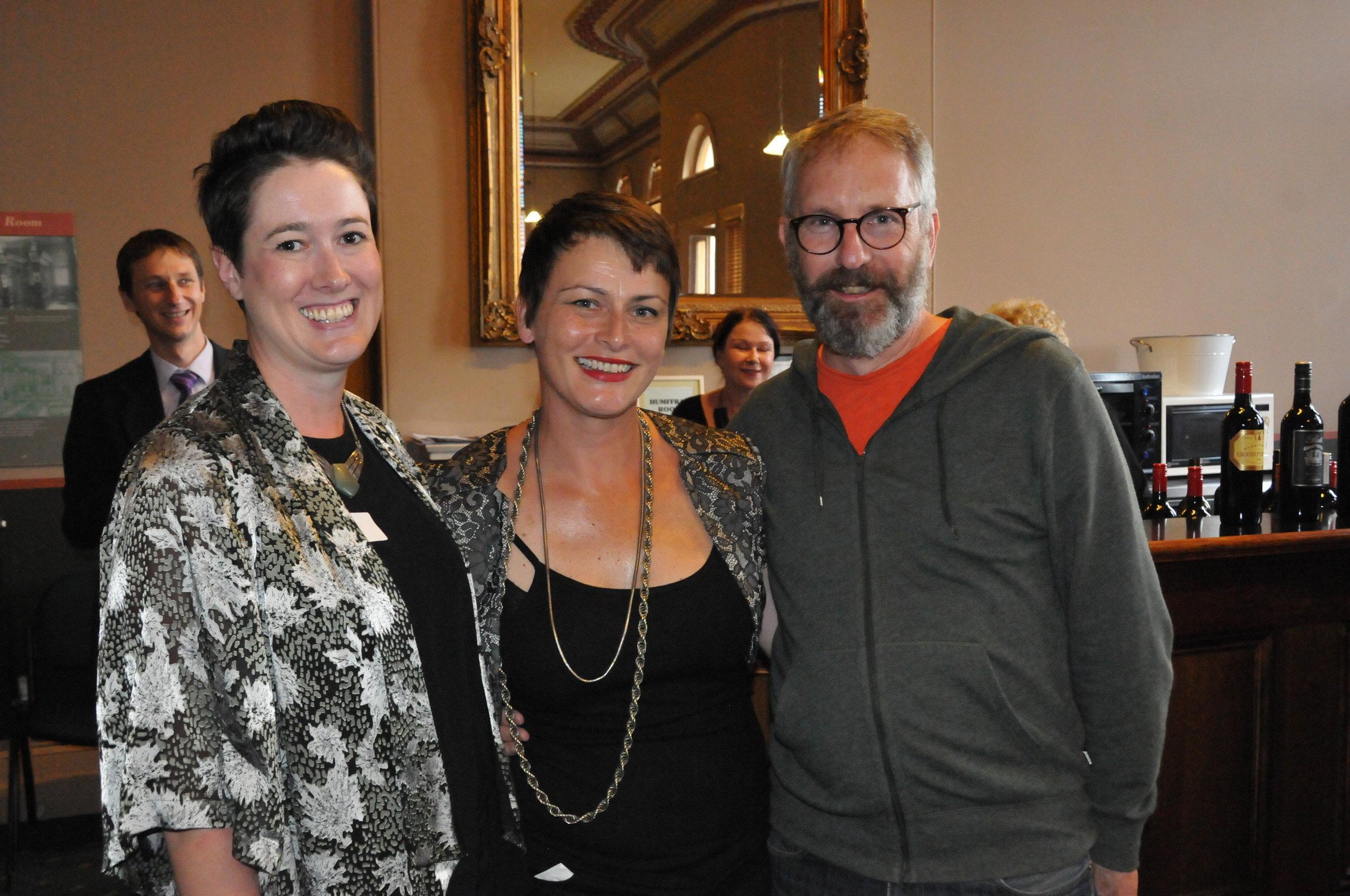 Julie McLaren, Tara Poole and Stephen Pigott