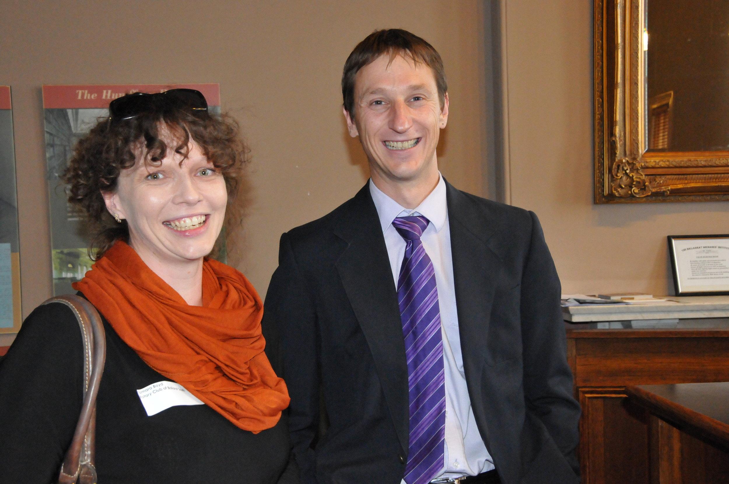 Tamara Boyd and Andrew Henwood