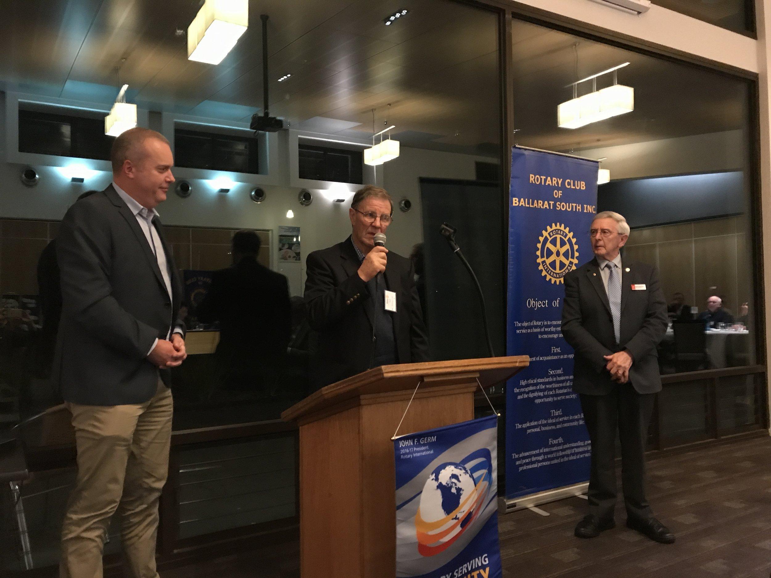 Brett Macdonald, Dr Tony Cole and Denis Bateman