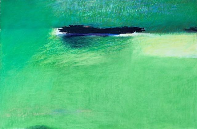 Tarli Glover, Green Space (2017) pastel on paper 80x120cm