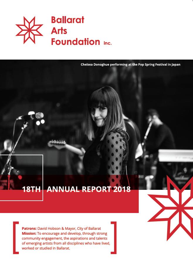 BALLARAT ARTS FOUNDATION ANNUAL REPORT 2017-2018
