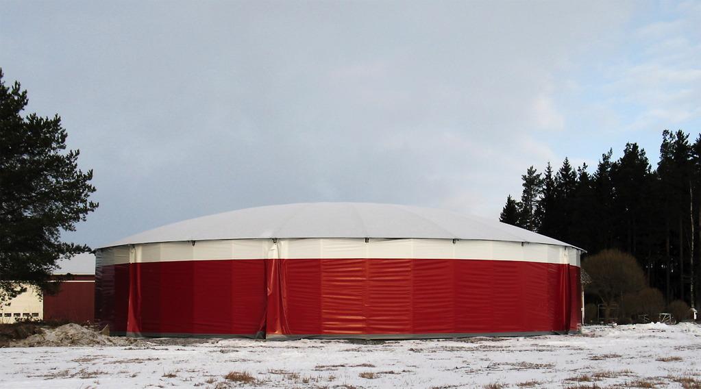 Pyöreä Ympyräkonesuoja perustuu samaan Ympyrähalli-malliin kuin Ympyrämaneesi, Ympyrämyymälä, Lietesäiliön kupolikatto ja Selkeytysaltaan kupolikatto..