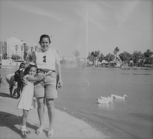 My mom and I. MacArthur Park, Los Angeles. 1996