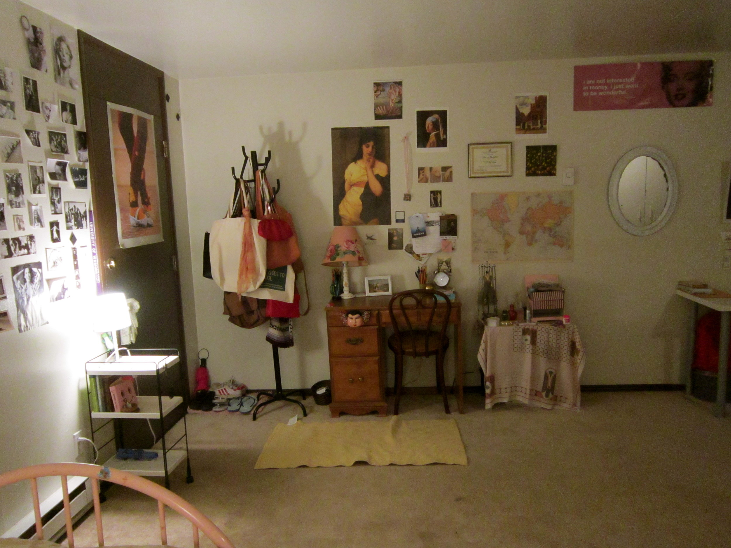 My first studio. This was in Seattle in 2011, I was in my sophomore year in college. I lived alone and it was amazing.