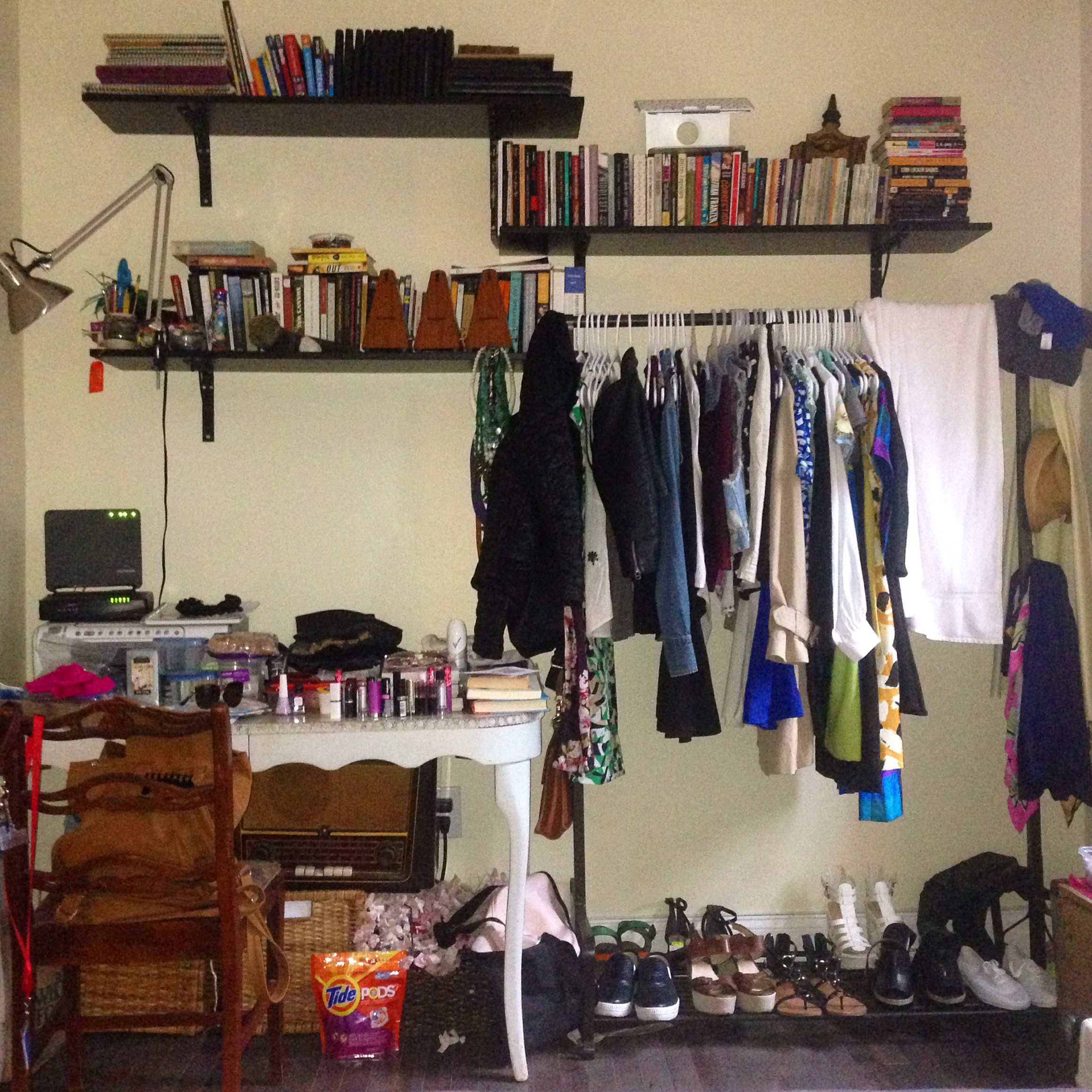 I lived in New York City in 2016 and rented a room in Brooklyn for $700/month. Living in NYC made a huge impact on me because it was the first time I lived in an extremely crowded city. Living in the city inspired me to get rid of so many things that I wasn't even using. For example, why did I pack 9 pairs of shoes? OR 12 lipsticks????? Things like that.