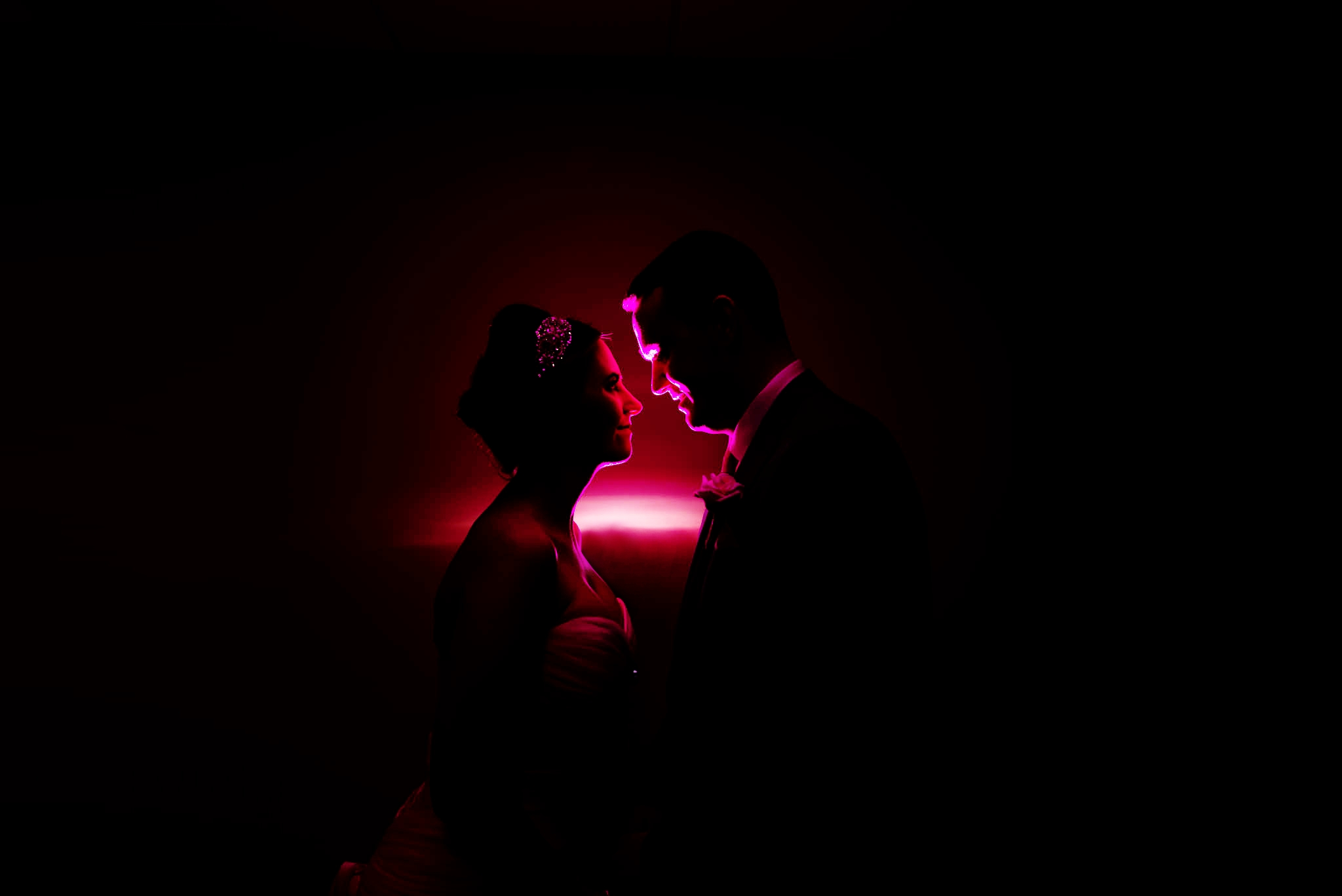 lake vrynwy hotel wedding photographer, autum winter wedding with dramatic and alternative lighting effects