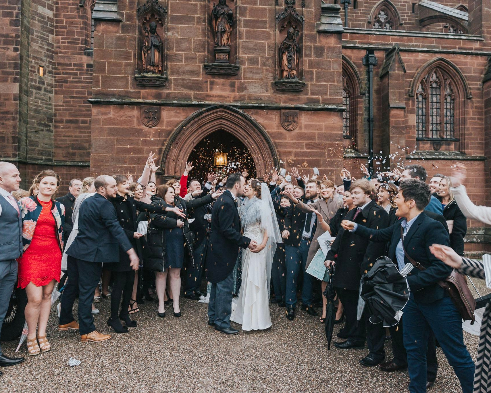dramatic image for the confetti wedding photography in Cheshire for this rustic and vintage wedding
