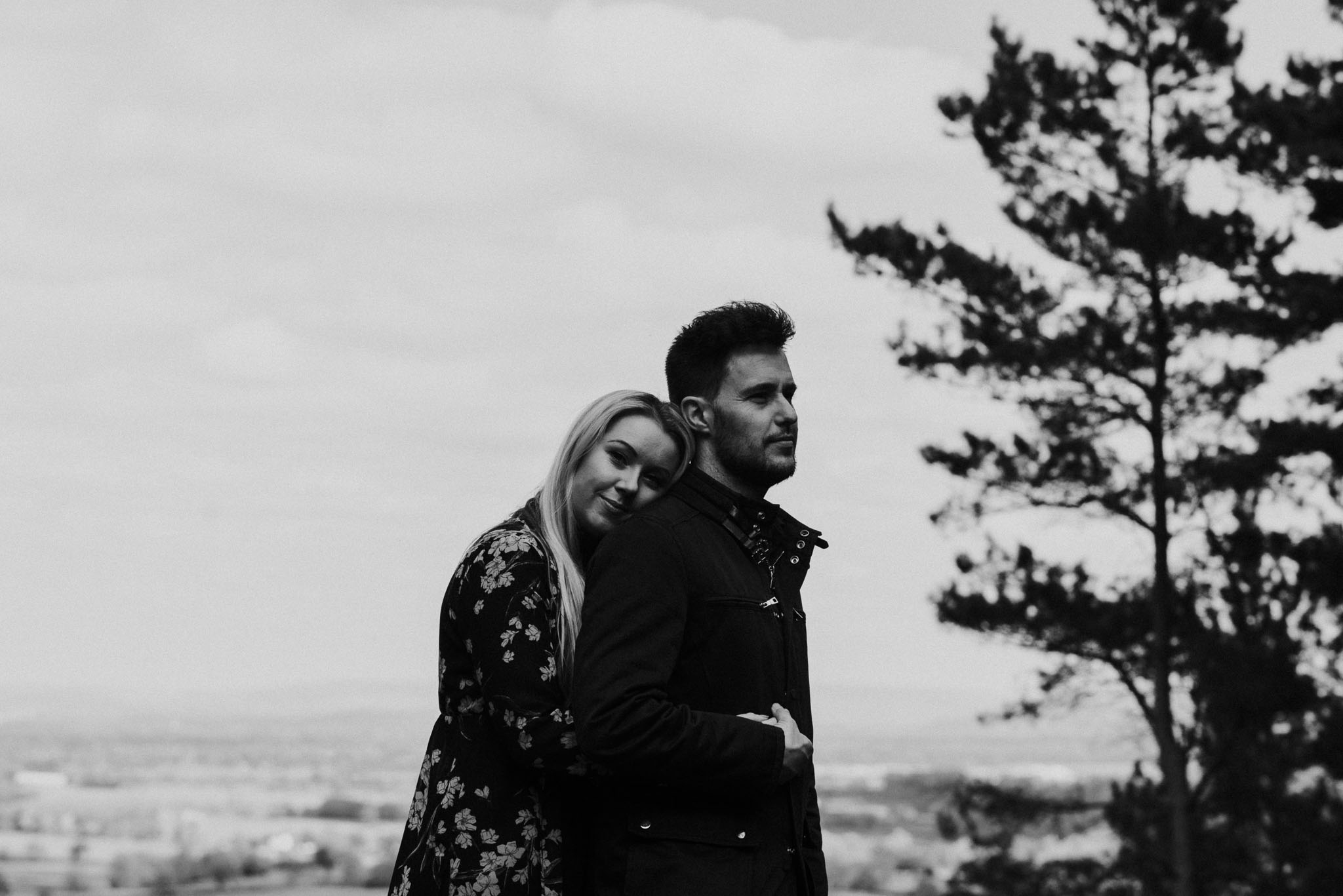 Engagement wedding photography by the Flintshire wedding photographer, covering alternative weddings in the North West