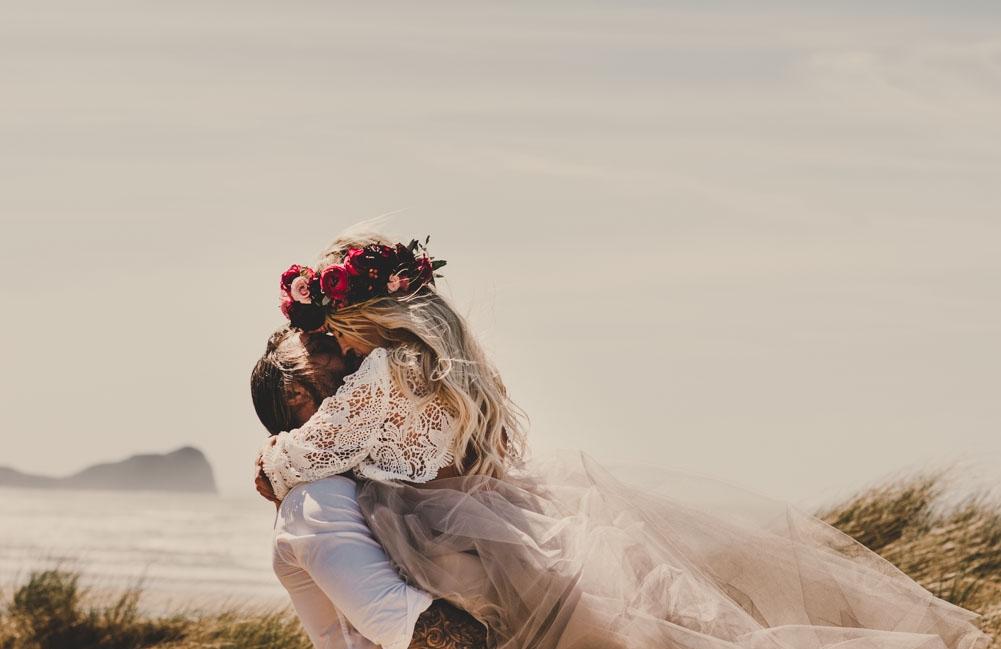 SHOOT: A Rad beach elopement wedding shoot - South Wales