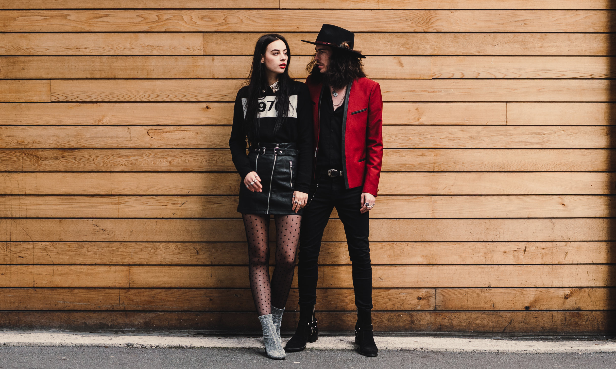 instagram fashion bloggers on engagement shoot before their wedding in manchester