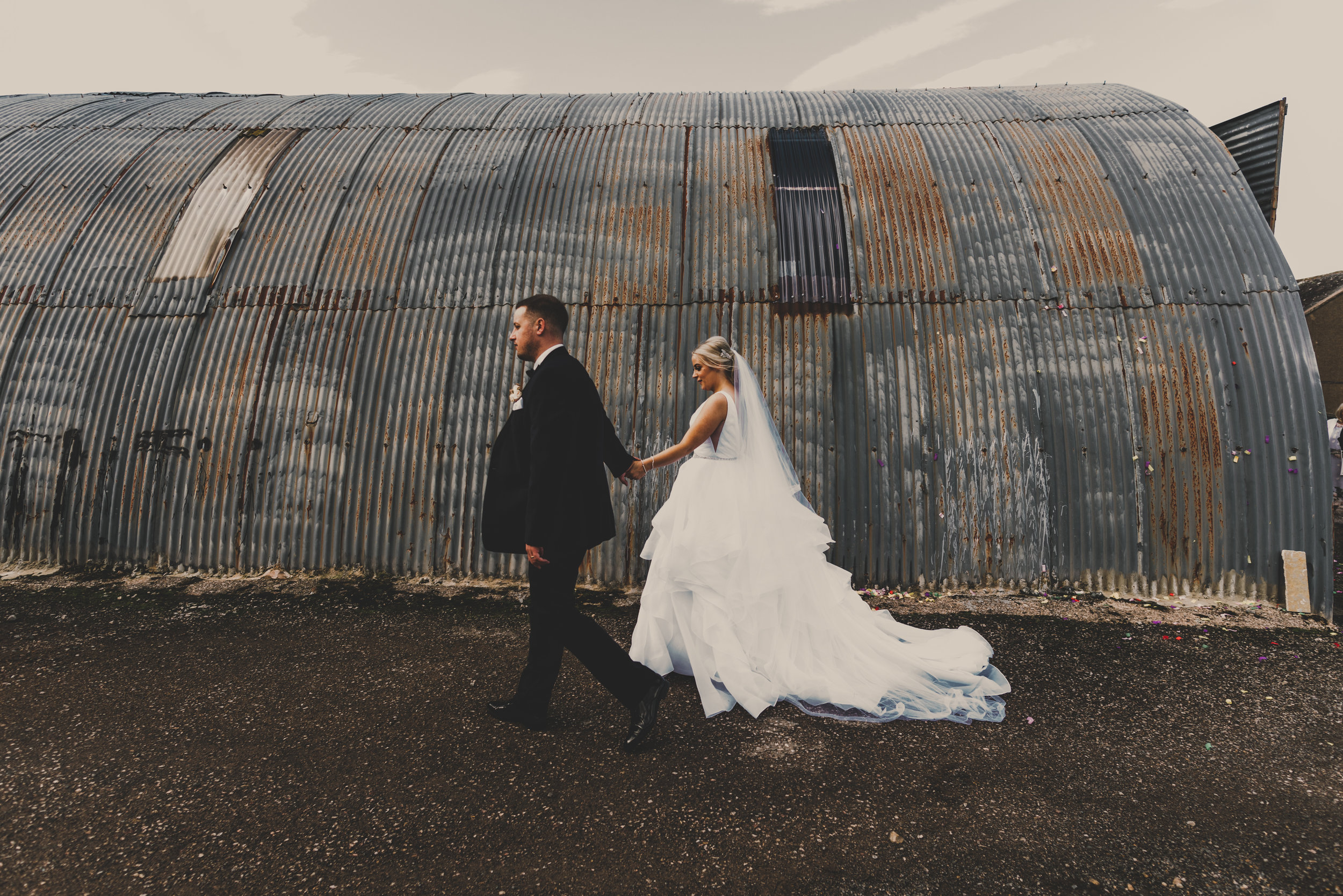 WEDDING: A glam wedding at Eden Wedding Barn Cumbria with an alternative twist.
