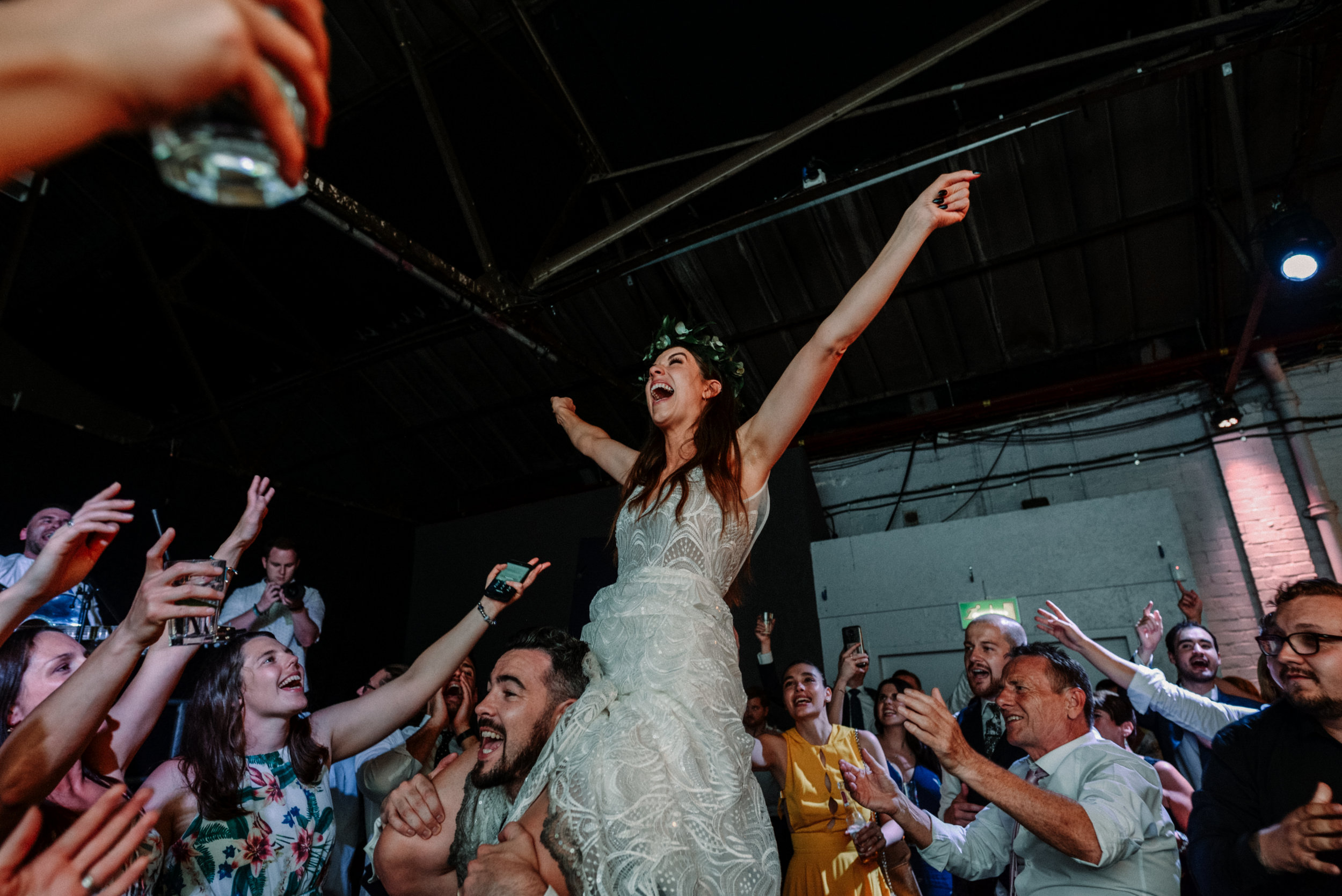 Highlights of Craig and Emily // Live Gig meets festival wedding extravaganza in Constellations - Liverpool