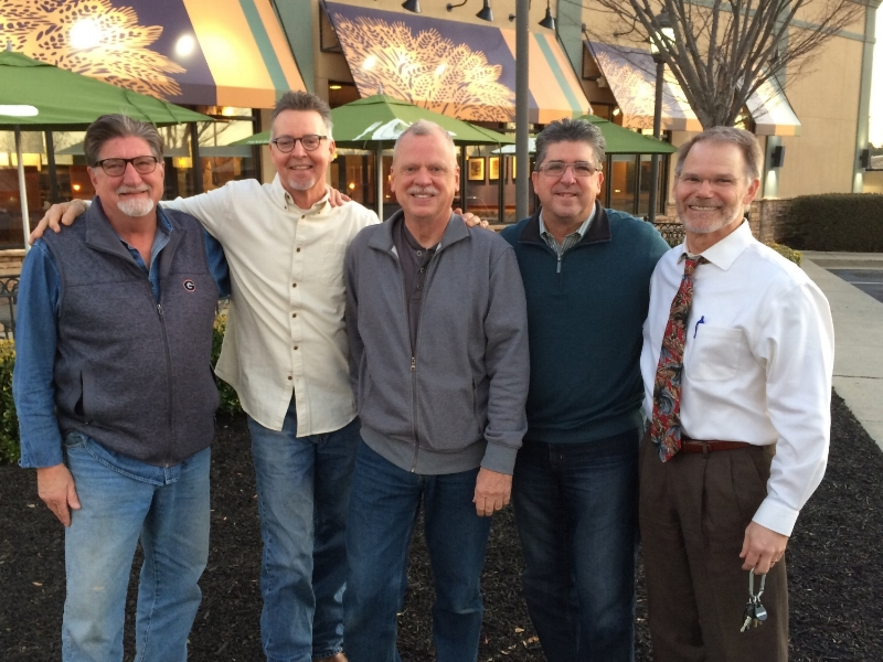 Chuck Rigdon, Steve Gooch, Ed Townsend, John Gramigna, and Mark Brock. (Not pictured: Joe Pinson)
