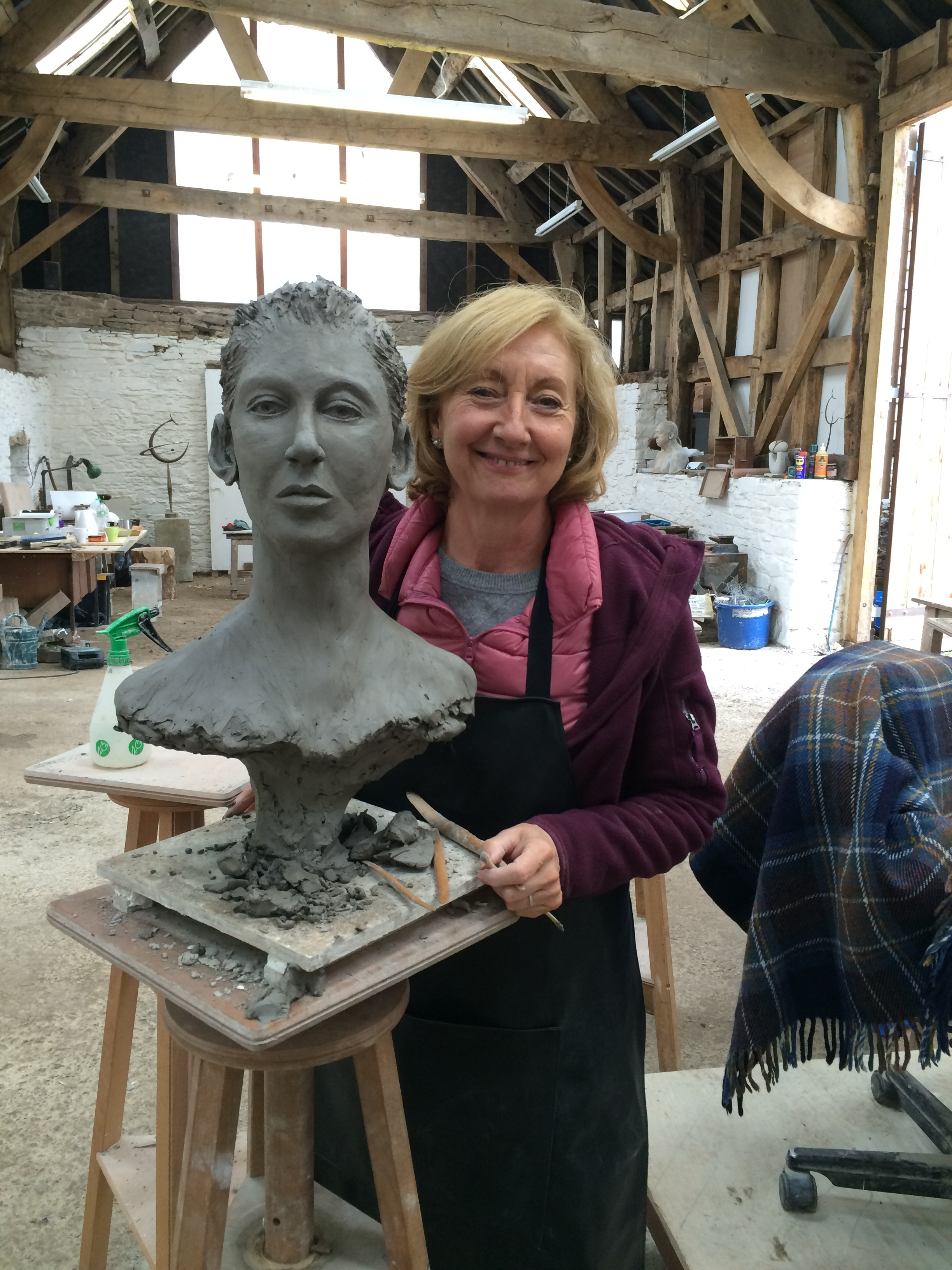 sculpting the head stage 1