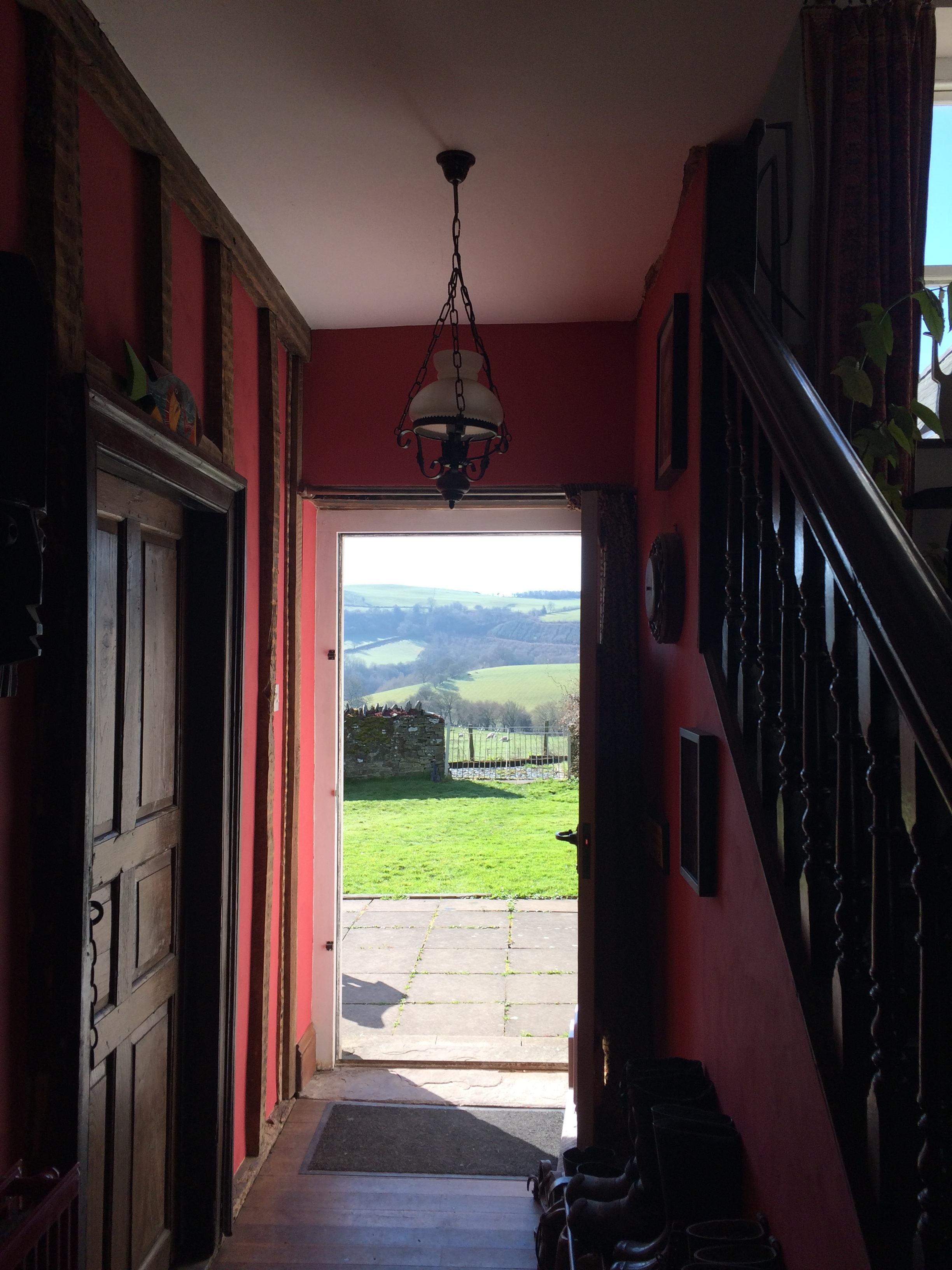 Through the back door.