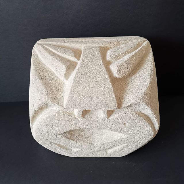 Some people arrive with no idea of what they want to make, and that's fine.  Sometimes the stone they select will itself suggest a design to them.  But Ajit came with drawings and a clear idea of what he'd like to make and went home happily with the piece he had envisaged!  Stone Carving workshop 23-26 August 2019.  #stonecarvingcourses