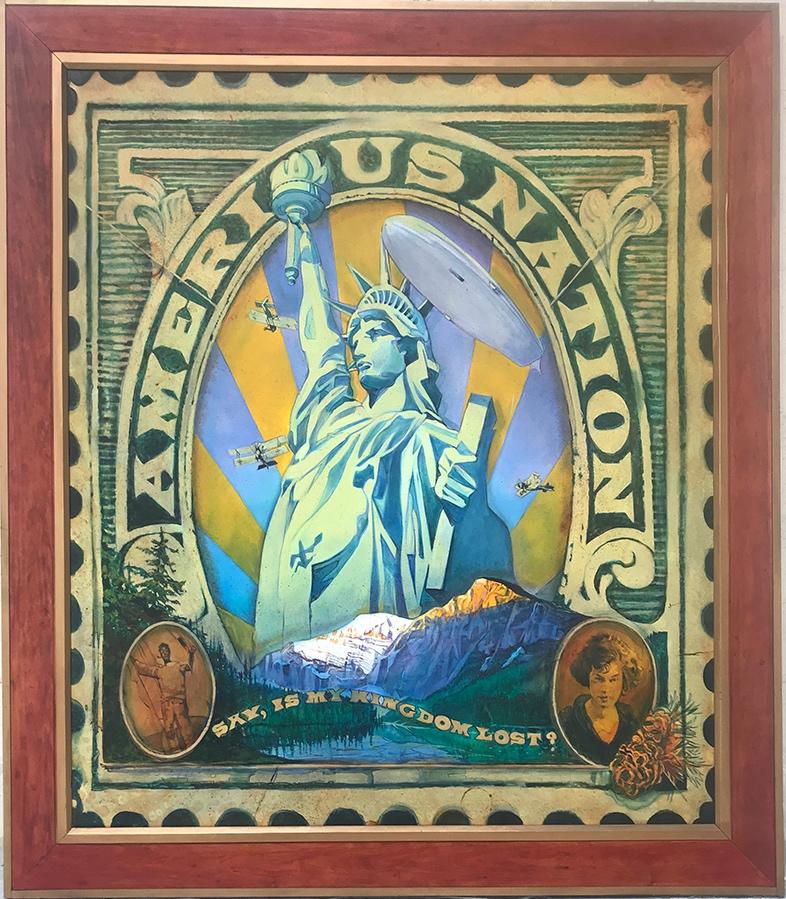 Americus Nation, 84 x 60, oil on canvas