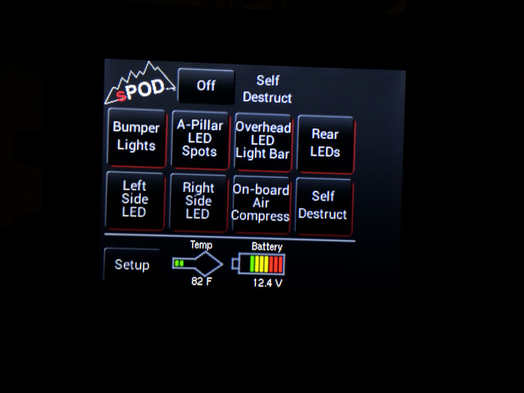 SPOD SE with Touchscreen to run accessories.